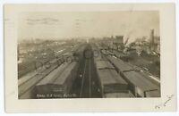 RPPC PRR PENNSYLVANIA RAILROAD Yards KANE PA McKean County Real Photo Postcard