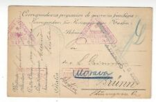1917 Italy WWI POW Postal Card, Aderno Censor to Brunn Austria - Germany