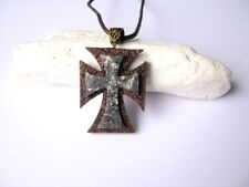 Colgante hecho a mano Cruz Collar Hombres Joyería Cristiana Regalo de Pascua Regalo Para él