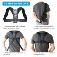 Posture Corrector Support Fixer Back Brace Belt Adjustable Fix Shoulder Therapy