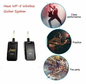 Haze Rechargeable Guitar UHF Wireless System, Transmitter + Receiver, WP-5