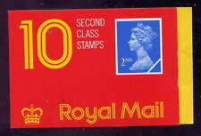 Gb 1989 10 x 2nd Class Stamps Barcode Booklet Hc2