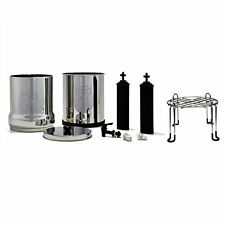 Crown Berkey Water Purifier w/ 2 Black BB9 Filters and Stainless Steel Stand New