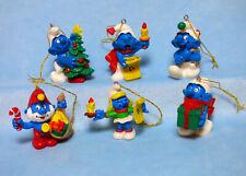 6 Weihnachts Schlümpfe Sammlung Weihnachtsbaum Anhänger Figur Schlumpf Smurf