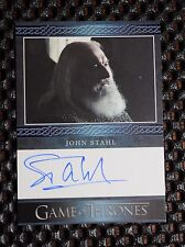 GAME OF THRONES SEASON 3 John Stahl as Rickard Karstark  AUTOGRAPH CARD