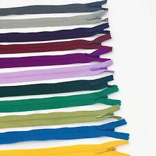 """10"""" YKK Invisible Zipper 100 Piece Multi-color Assortment Nylon Coil Closed End"""