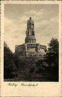Hamburg s/w Ansichtskarte 1933 gelaufen Partie am Bismarck Denkmal Statue