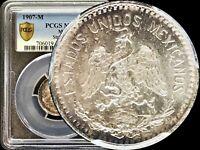 1907 Mexico 20 Centavos -  PCGS MS 64 KM# 435 Straight 7 - TOP POP None Finer 🥇