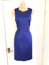 Stunning Karen Millen Sleeveless Blue Wiggle Pencil Dress Size 12/business
