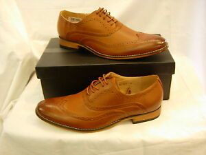 M14 MENS GENTS BOYS LACE UP LEATHER LINED BROGUE  SHOE  SIZE 5 6 7 8 9 10 11 12