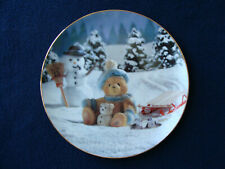 Cherished Teddies Collector Plates Set of 3 - Hamilton Collection - New