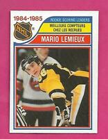 1985-86 OPC # 262 PENGUINS MARIO LEMIEUX LEADERS ROOKIE NRMT CARD (INV# D0837)