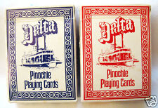 Two Decks Playing Cards Delta Pinochle Red & Blue Backs by Hoyle Eckerd Sticker