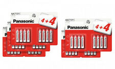 16 x Panasonic AAA zinc carbon batteries. R03 size. 2 retail packs of 8