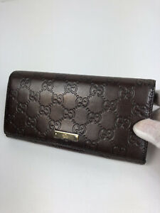 Gucci GG guccissima leather long wallet