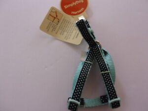 Blue polka-Dot Simply Dog TOY size Step-In Harness Pet new no choke free xxs