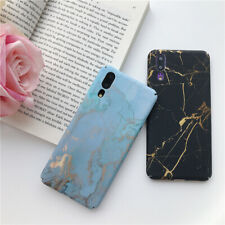 Matte Hard Gold Foil Marble Phone Case For Huawei P20 P30 Lite Mate20 Pro Psmart