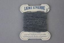 P512 mercerie vintage ancienne 1 carte fil LAINE SAINT PIERRE gris chiné 8,8*7,2