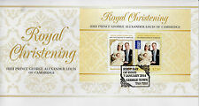 Australia 2014 FDC Royal Christening Baby HRH Prince George 2v M/S Cover William