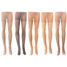 3 x Ladies Women 15 Denier 100% Nylon Tights Hosiery
