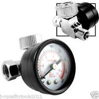 Inline Air Regulator w/ Easy-Read Gauge 0 - 160 PSI Pressure Air Gauge
