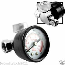 Inline Air Regulator w/ Easy-Read Gauge 0 - 160 PSI Pressure Air Gauge