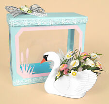 A4 Card Making Templates - Beautiful 3D Swan & Display Box by Card Carousel