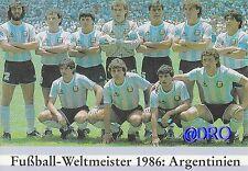 Fußball Weltmeisterschaft + Weltmeister Postkarten Serie + 1986 + ARGENTINIEN +