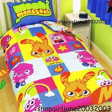 Moshi Monsters 'Monsters' squares Single/US Twin Bed Quilt Doona Duvet Cover Set