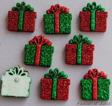 SMALL GLITTER PRESENTS - Christmas Gift Boxes Dress It Up Craft Embellishments