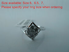 925 Sterling silver size6, 6.5,  7 Ring, Quality AAAAA grade CZ stones, SET, NWT