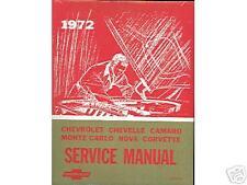 1972   72  CAMARO/SS/Z28/RS SHOP MANUAL