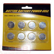 CR2032 CR2025 CR2016 Button Battery Power Gell 8 Pcs