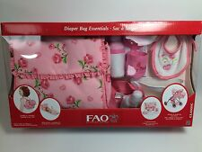 FAO Baby Doll Diaper Bag & Accessories 11 Piece Set NEW RARE