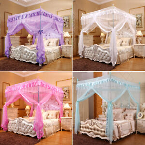 Four Corner Post Bed Canopy Mosquito Netting Or Frame/Post Single Double King