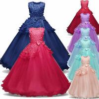 Flower Girl Princess Dress Birthday Party Wedding Bridesmaid Formal Tutu Gowns