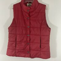 Women's Converse One Star Womens Size XL Red Puffer Vest Quilted Button Nylon