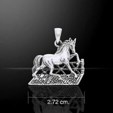 Horse .925 Sterling Silver Pendant by Peter Stone