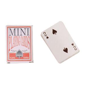 Spielkarten Mini in 6x4 cm Pokerkarten Miniatur Karte klein winzig Poker Skat