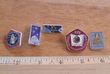 Russian Soviet Space pin lot of 5 from large collection Astronauts rockets 2G