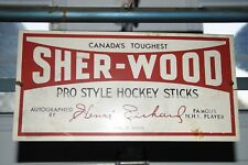 ULTRA RARE PROMOTINAL POCKET ROCKET HENRI RICHARD SHERWOOD HOCKEY STICK RACK
