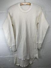 Vintage Hanes Thermal Long John Shirt Medium VTG 70s Base Layer Green Tag USA