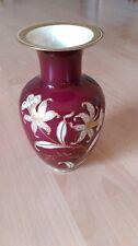 Reichenbach Porzellan Barock Vase Bauchvase rot gold Lilie