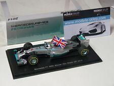 Mercedes W05 Winner Abu Dhabi GP 2014 - Lewis Hamilton 1/43 Spark S3142 FLAG