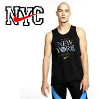"NIKE MILER TANK ""NYC AREA CODES"" DRI-FIT MEN'S RUNNING BLACK CQ7815-010 MEDIUM"