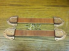 Antique Trunk Hardware-Leather Handles,Ends and Nails for Trunks & Chests-New-G