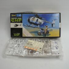 Hasegawa Hughes 500D California Highway Patrol CHP Helicopter + Motorcycle 1:48
