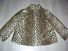 Vintage 90s 00s fake fur leopard short jacket 2 pockets 16