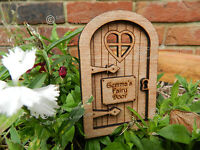 Personalised Dome Fairy Door Wooden Magical Elf Pixie Hobbit Tooth Fairy Fairie