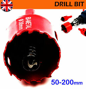Bi-Metal Hole Saw HSS Hole Cutter Arbor Pilot Drill Bit For Iron Pipe 50-200 mm